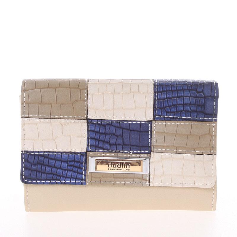 Módní dámská peněženka Dudlin Ava, béžová