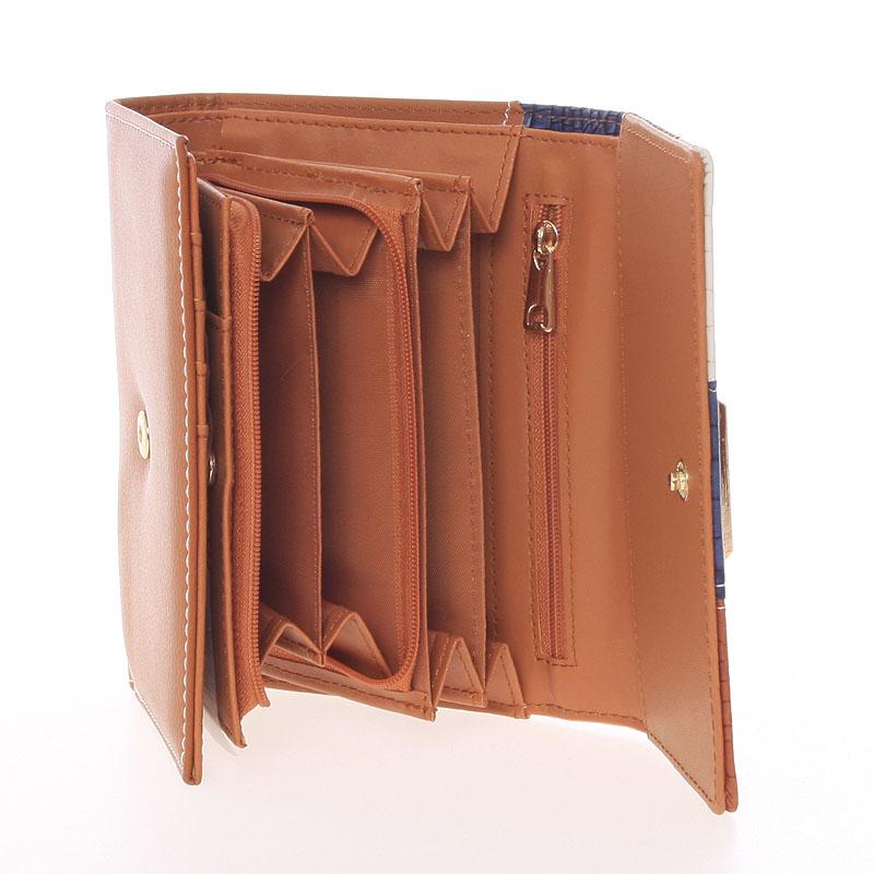 Módní dámská peněženka Dudlin Ava, hnědá