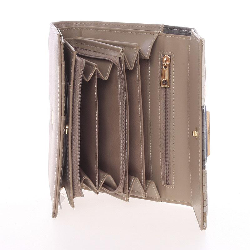 Módní dámská peněženka Dudlin Ava, oříšková