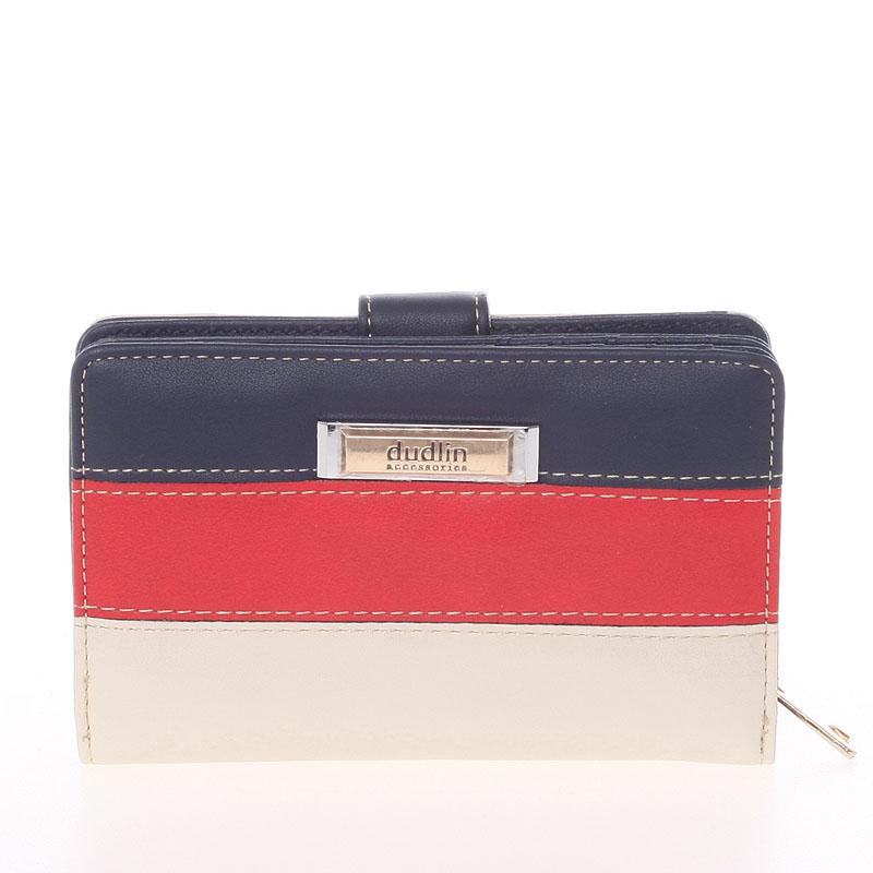 Originální dámská peněženka Dudlin Aurora, tmavě modrá