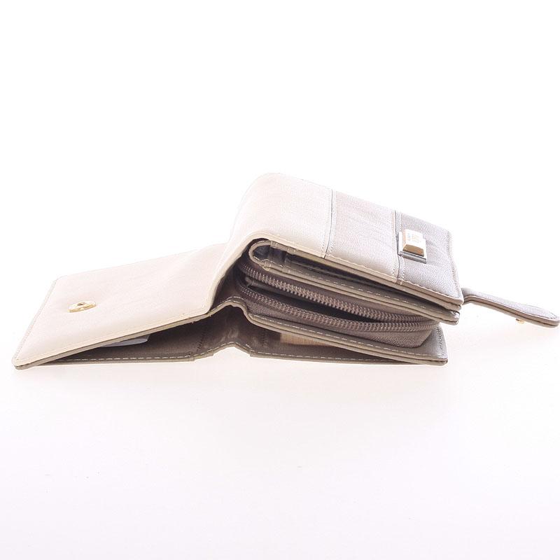 Originální dámská peněženka Dudlin Aurora, oříšková