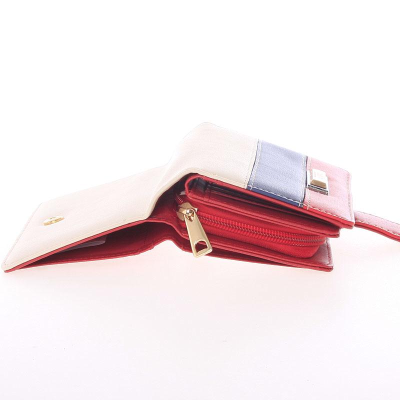 Originální dámská peněženka Dudlin Aurora, červená
