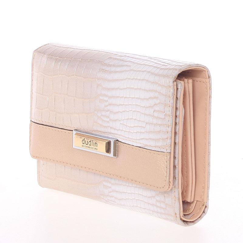 Dámská stylová peněženka Cristina, růžově zlatá