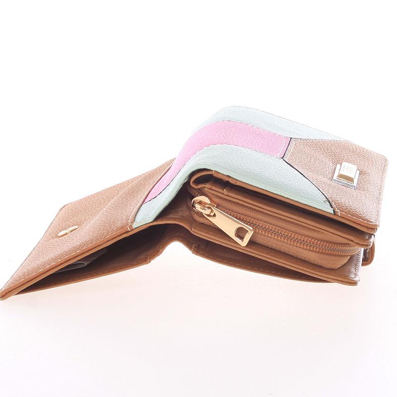 Velká dámská peněženka Dudlin Celeste, koňaková