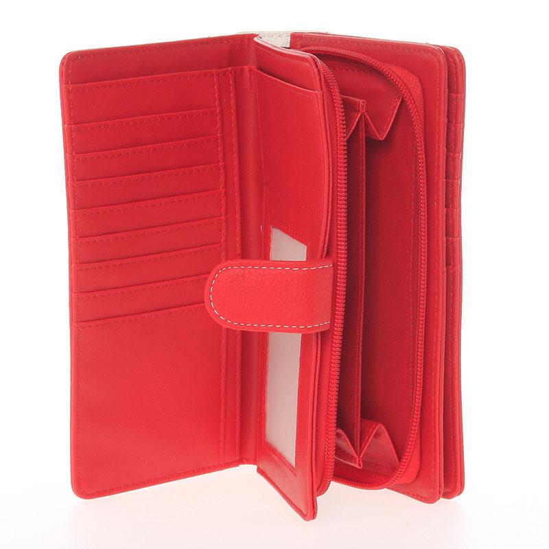 Velká dámská peněženka Dudlin Celeste, červená