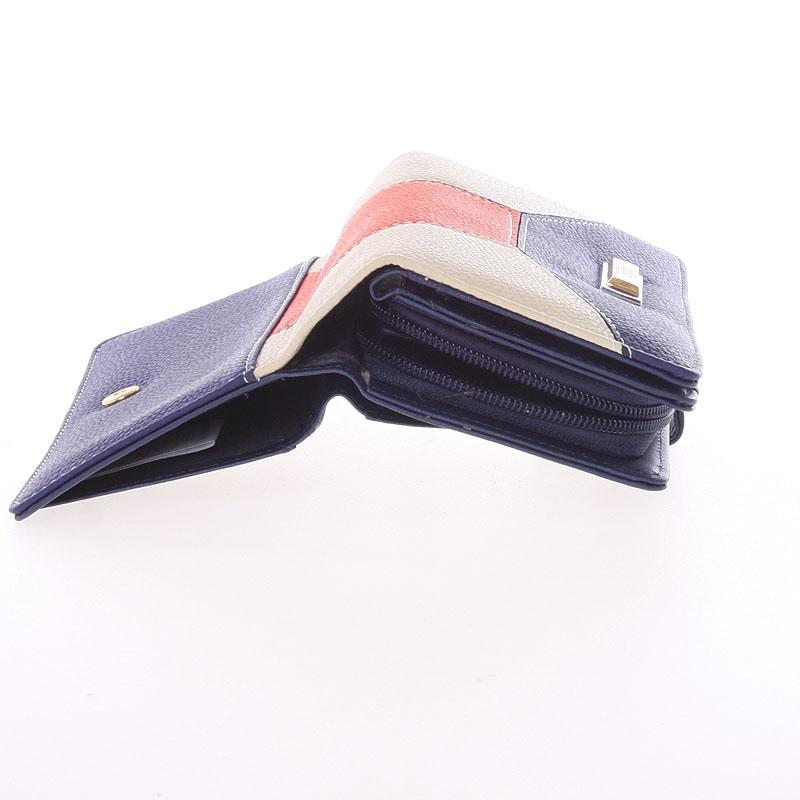Velká dámská peněženka Dudlin Celeste, modrá