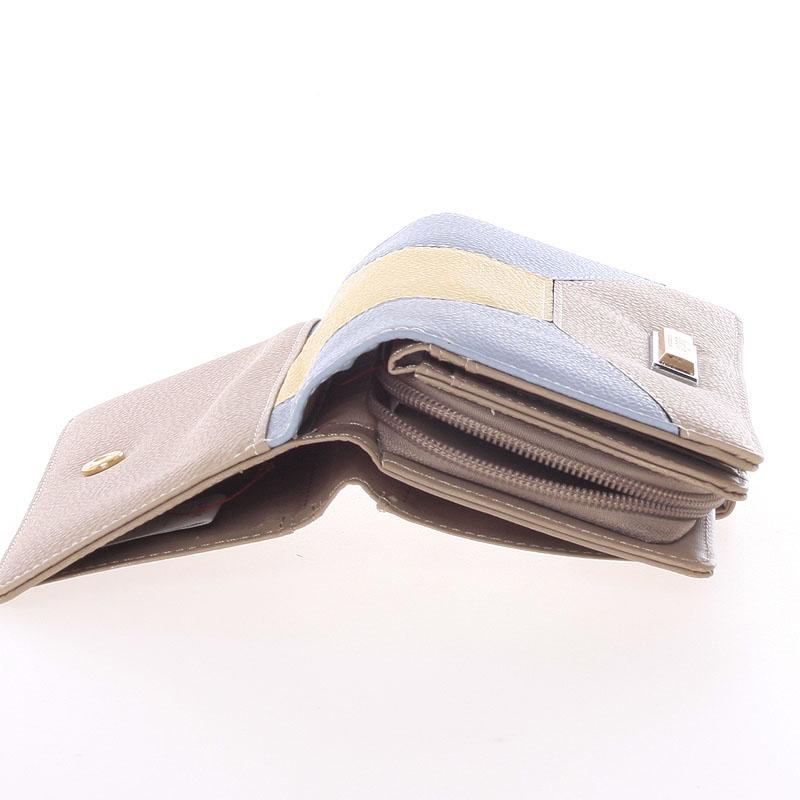 Velká dámská peněženka Dudlin Celeste, oříšková