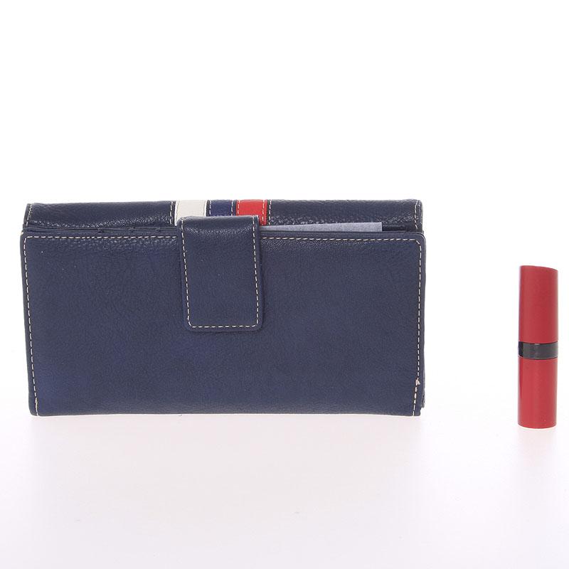Elegantní peněženka Dudlin Eduarda, tmavě modrá