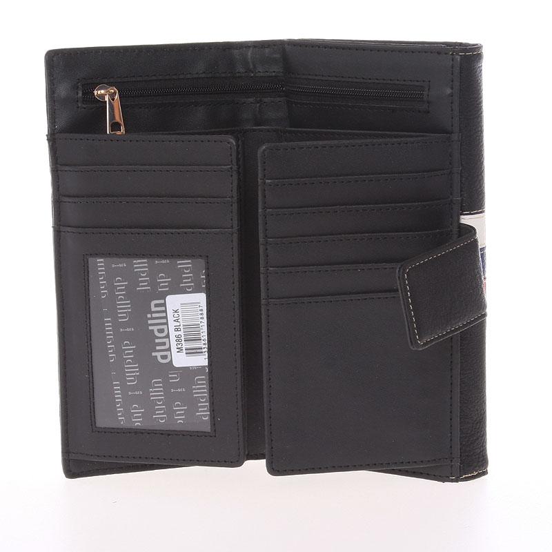 Elegantní peněženka Dudlin Eduarda, černá