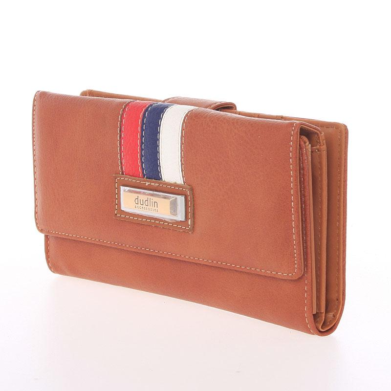 Elegantní peněženka Dudlin Eduarda, hnědá