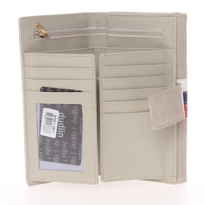 Elegantní peněženka Dudlin Eduarda, světle šedá
