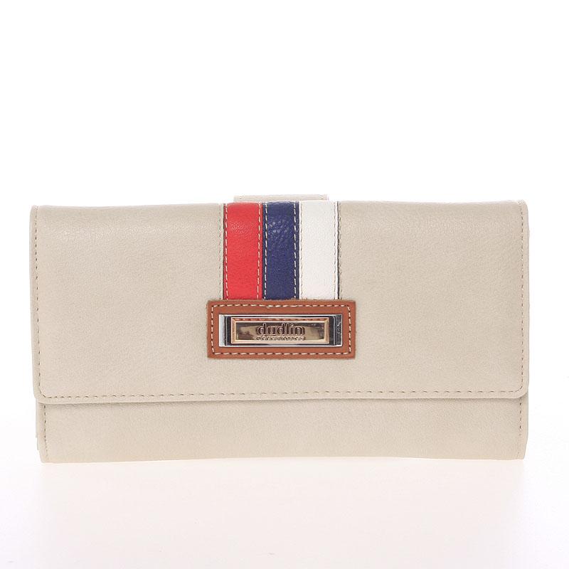 Elegantní peněženka Dudlin Eduarda, béžová