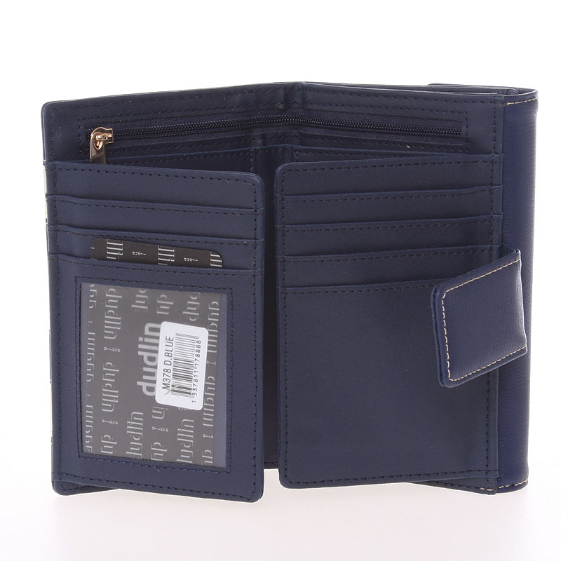 Svěží dámská kabelka Dudlin Gladis, tmavě modrá