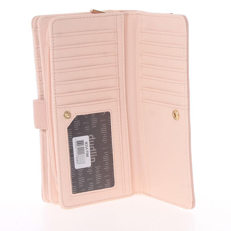 Originální dámská peněženka Dudlin Jimena, růžová