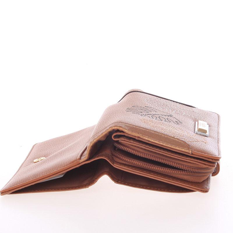 Originální dámská peněženka Dudlin Jimena, koňaková