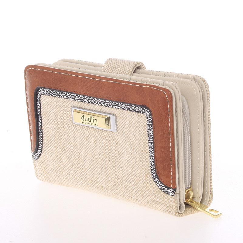 Střední dámská peněženka Dudlin Margarita, béžová