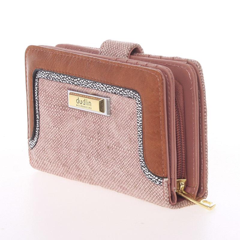 Střední dámská peněženka Dudlin Margarita, růžová