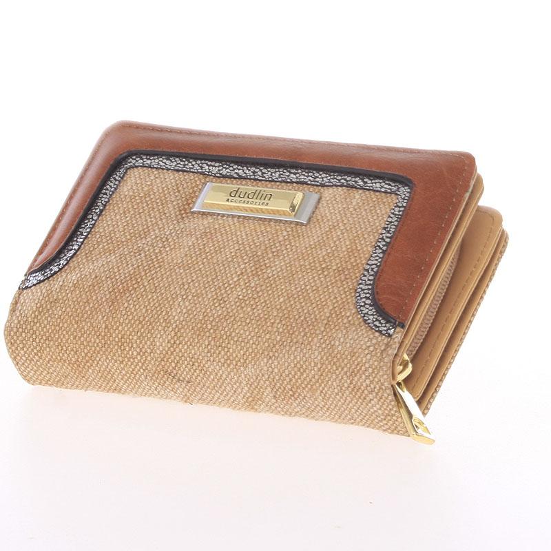 Střední dámská peněženka Dudlin Margarita, khaki