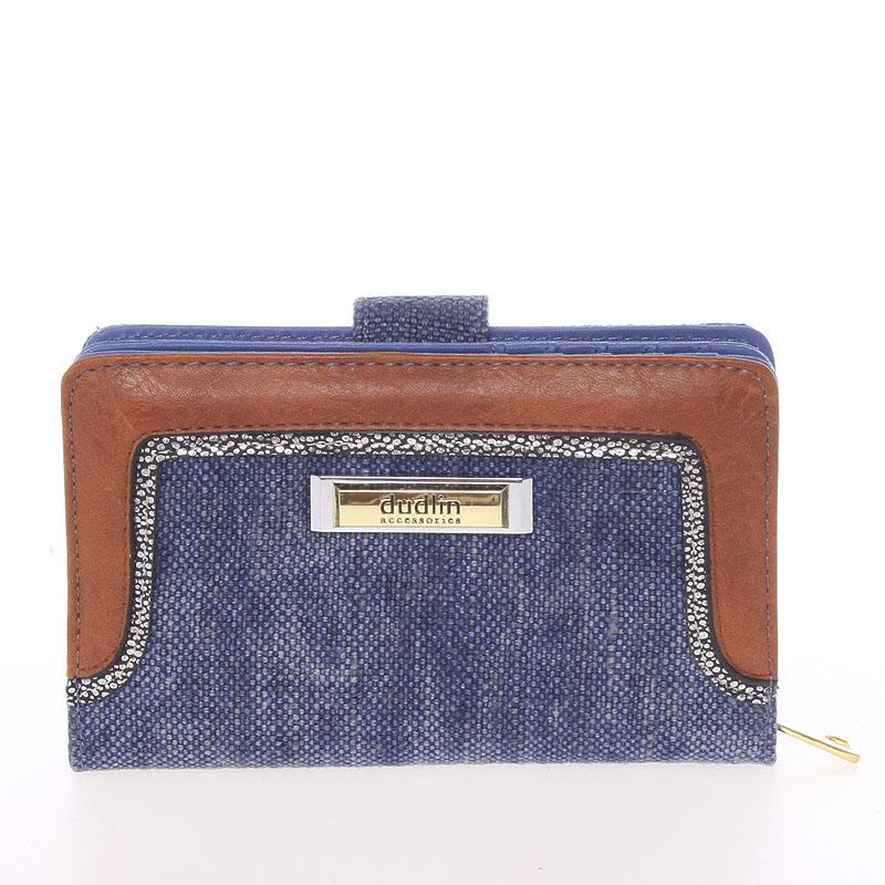 Střední dámská peněženka Dudlin Margarita, modrá