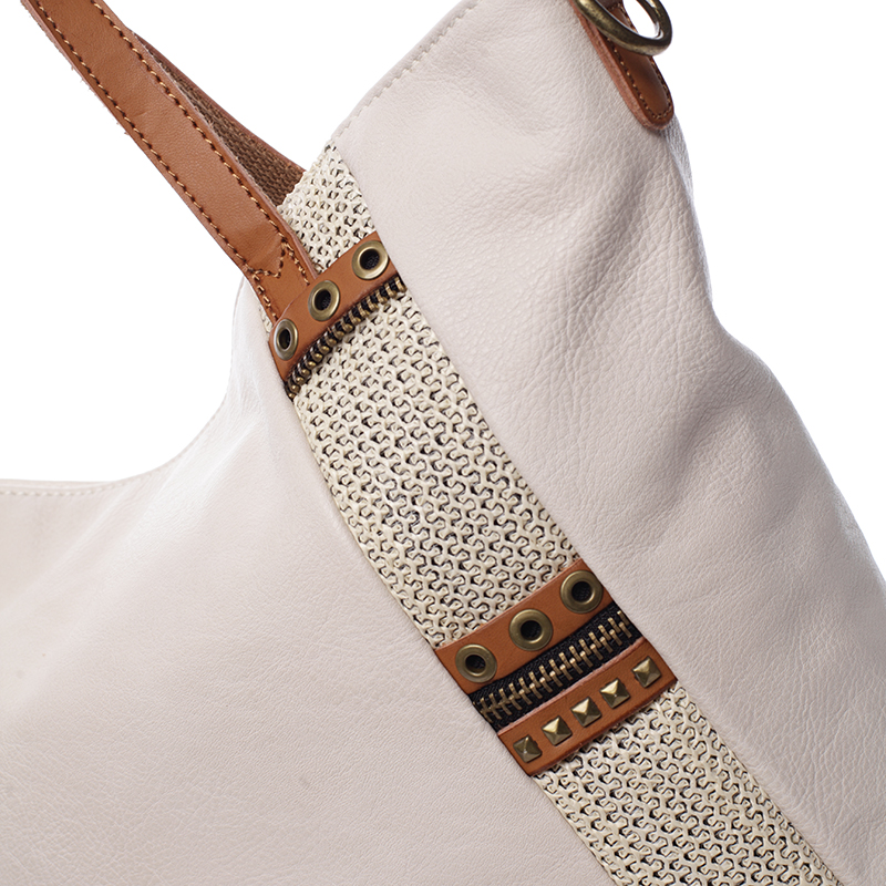 Originální trendová kabelka Zarina, béžová