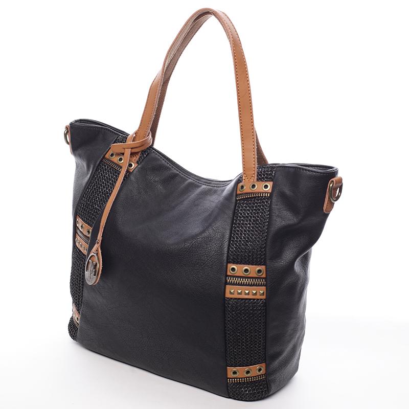Originální trendová kabelka Zarina, černá