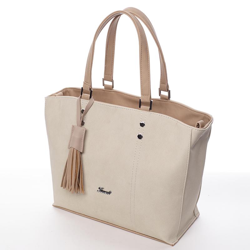 Luxusní dámská kabelka Karen Tía, béžová