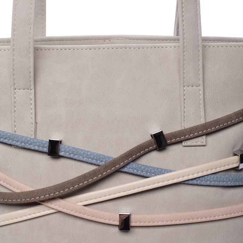 Designová kabelka Karen Marika, šedá