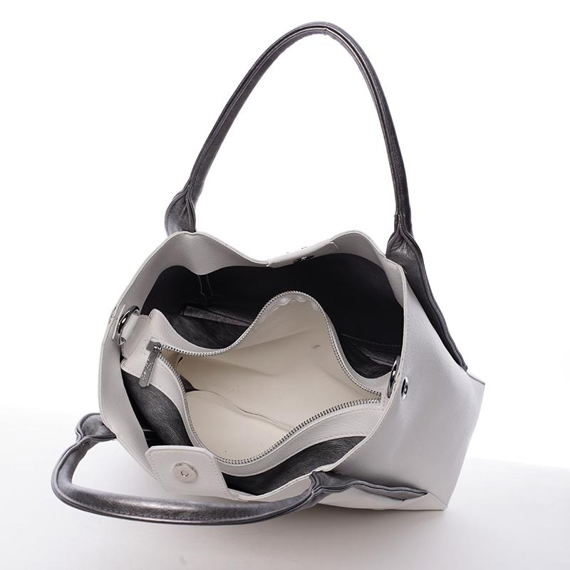 Svěží kabelka Karen Miraz, šedá