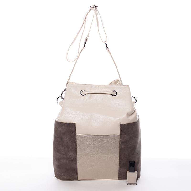 Nadčasová kabelka Karen Benita, béžovo-šedá