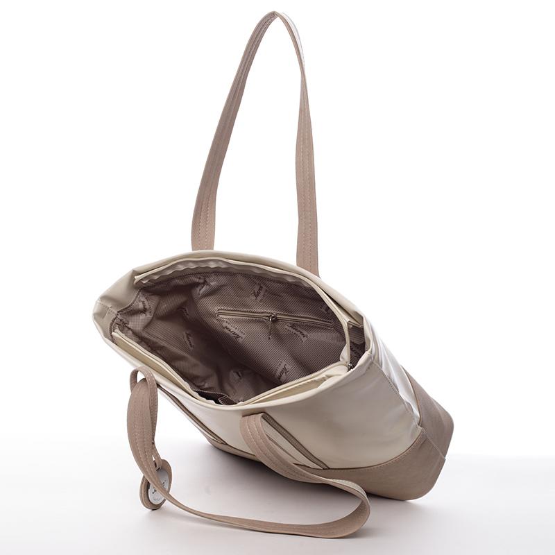 Klasická kabelka Karen Sofia, béžová
