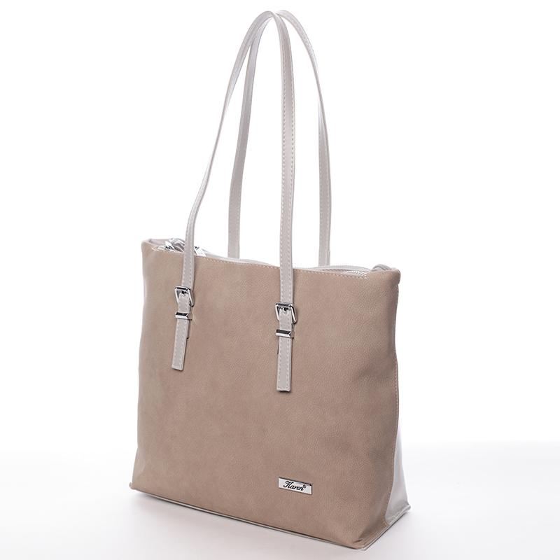 Elegantní kabelka Karen Inge, oříškovo-šedá