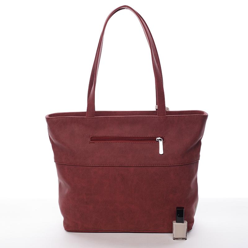 Elegantní dámská kabelka Karen Jasmina, červeno-béžová