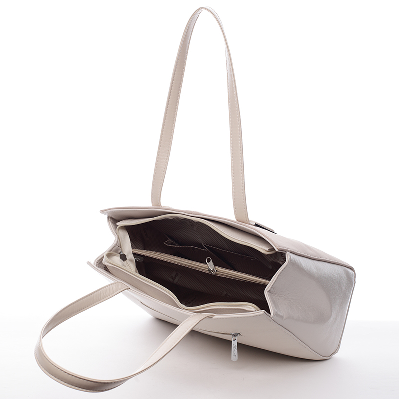 Dámská elegantní kabelka Karen Felicyta, béžovovo-světle starorůžová