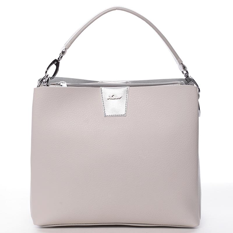 Luxusní kabelka Karen Demetria, světle šedá