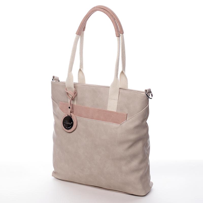 Luxusní kabelka Karen Tigra, světle oříšková