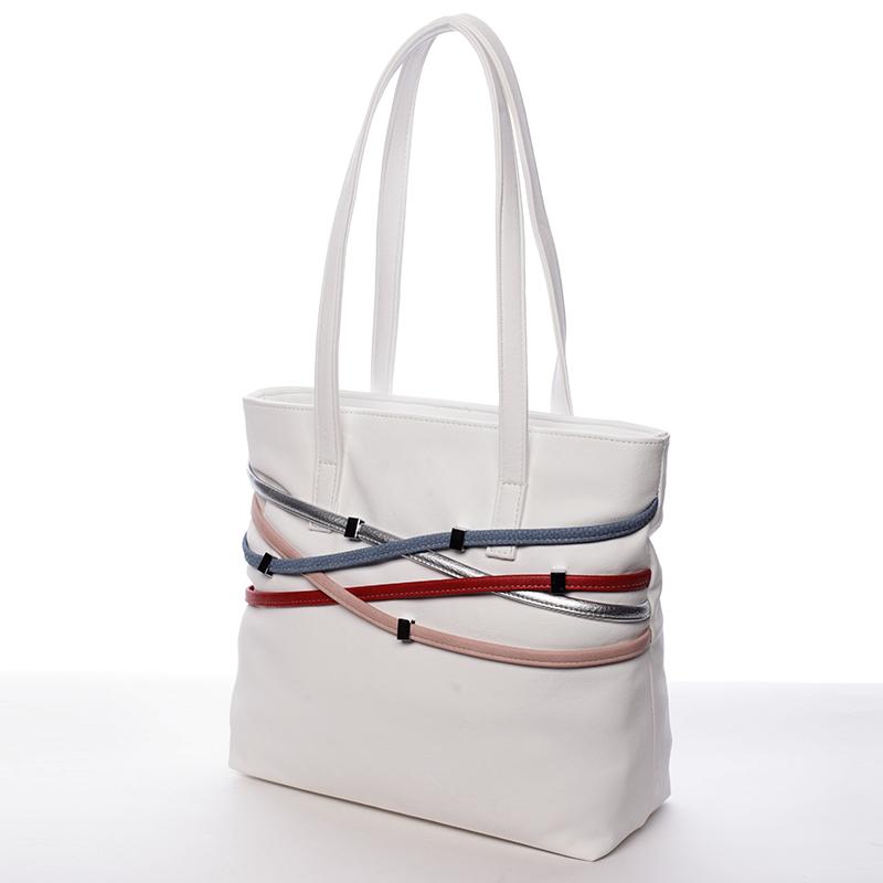 Dámská moderní kabelka Karen Marika, bílá