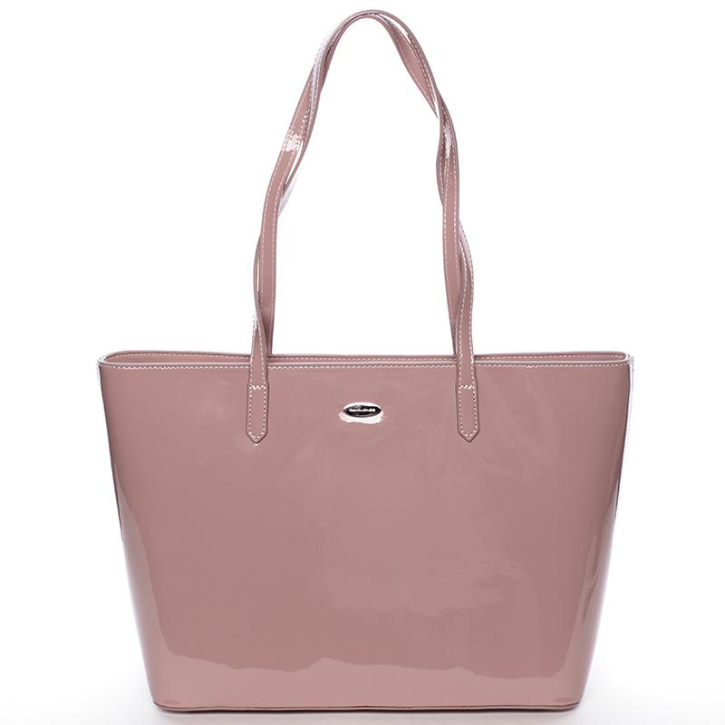 Krásná moderní kabelka přes rameno Uma, růžová
