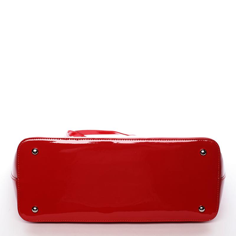 Krásná moderní kabelka přes rameno Uma, červená