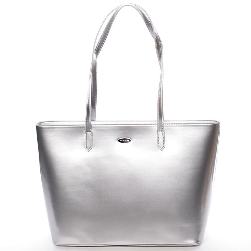 Krásná moderní kabelka přes rameno Uma, stříbrná