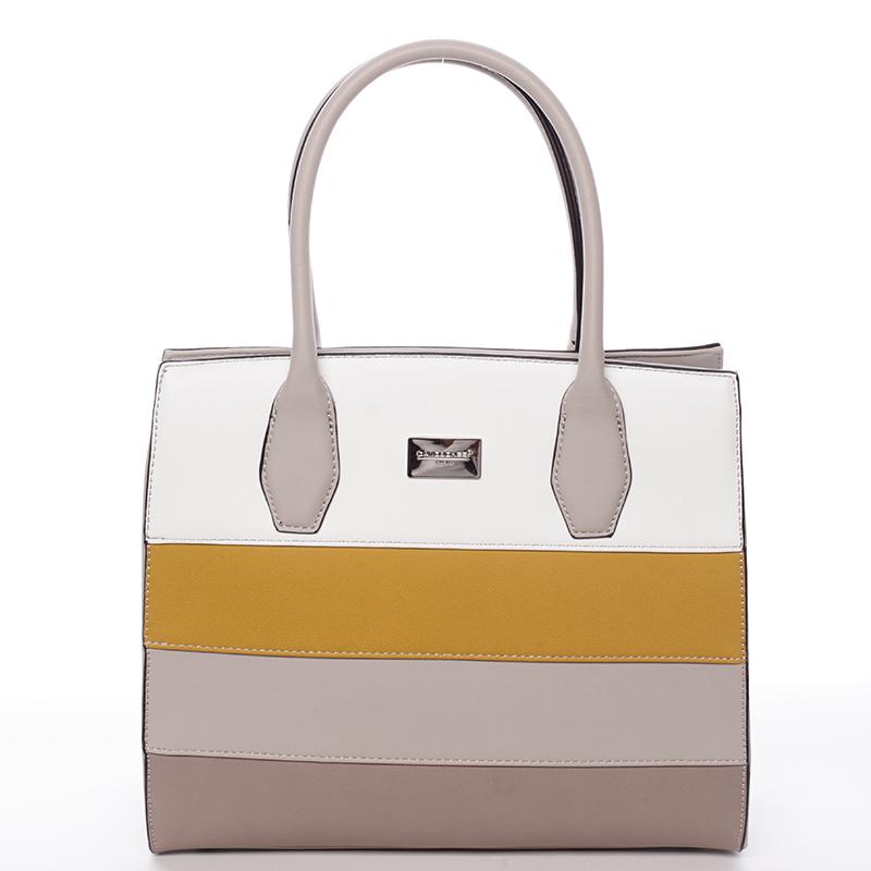 Elegatní kabelka do ruky Tatiana, světle šedá