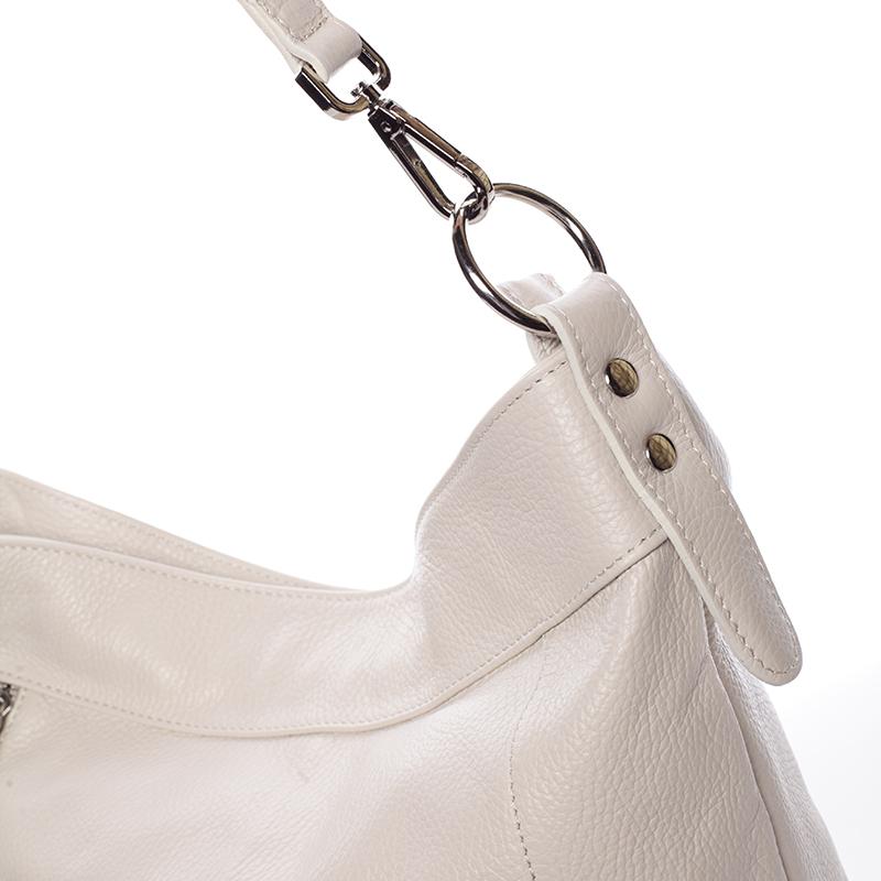 Kožená kabelka přes rameno Susana, béžová