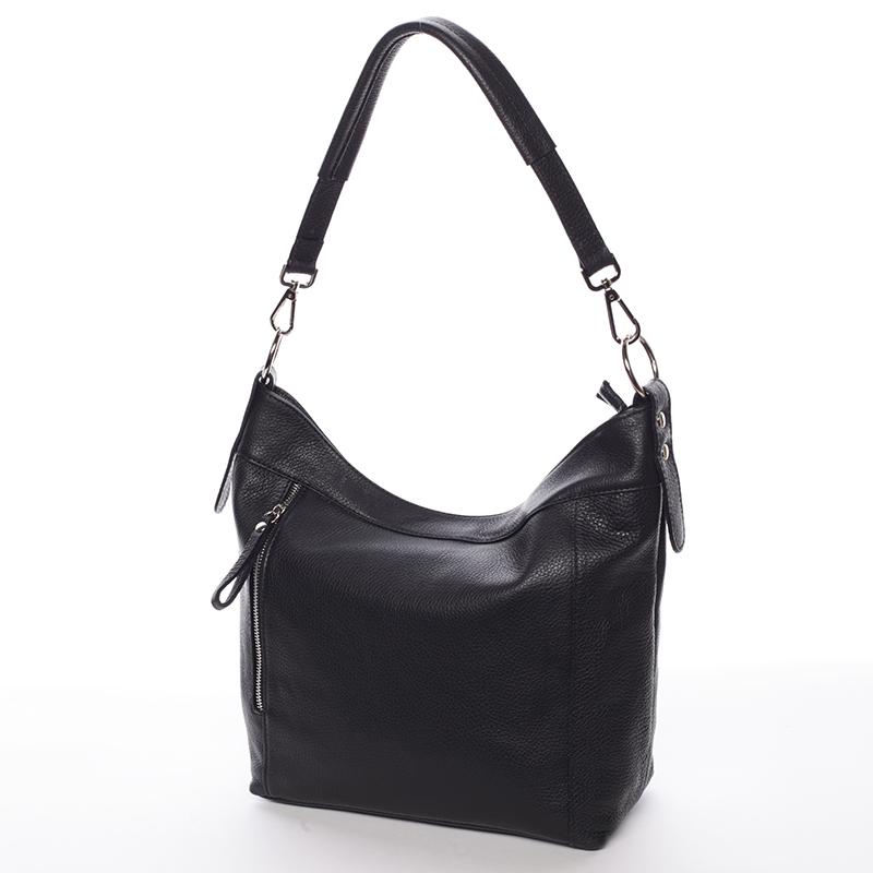 Kožená kabelka přes rameno Susana,černá