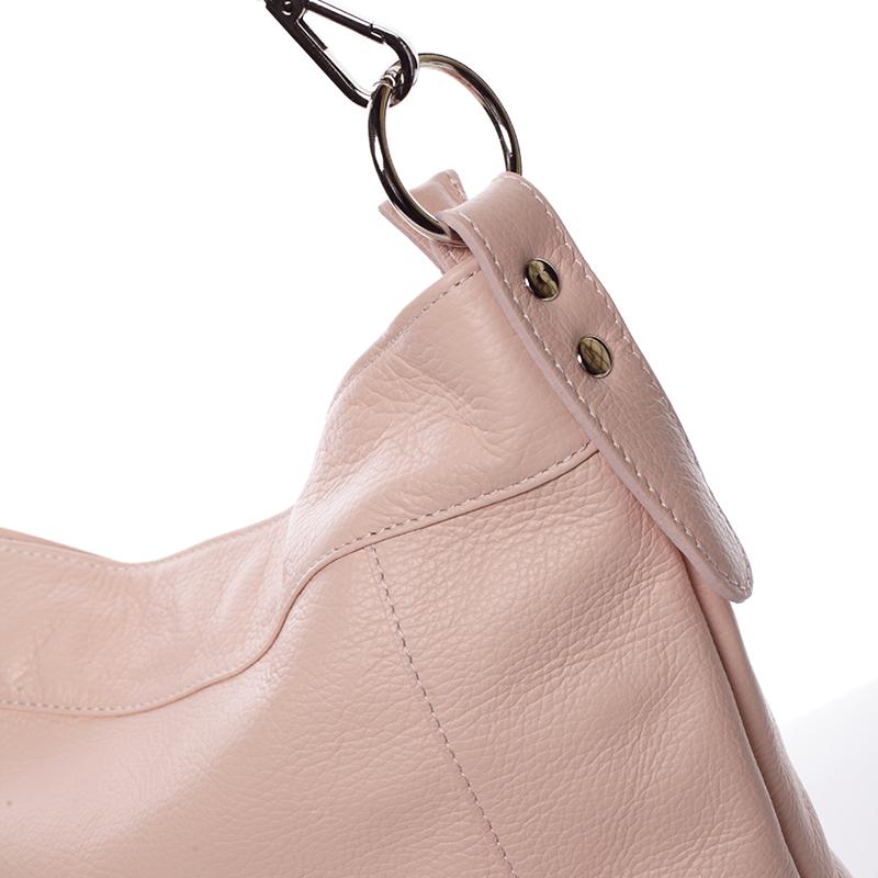 Kožená kabelka přes rameno Susana, růžová
