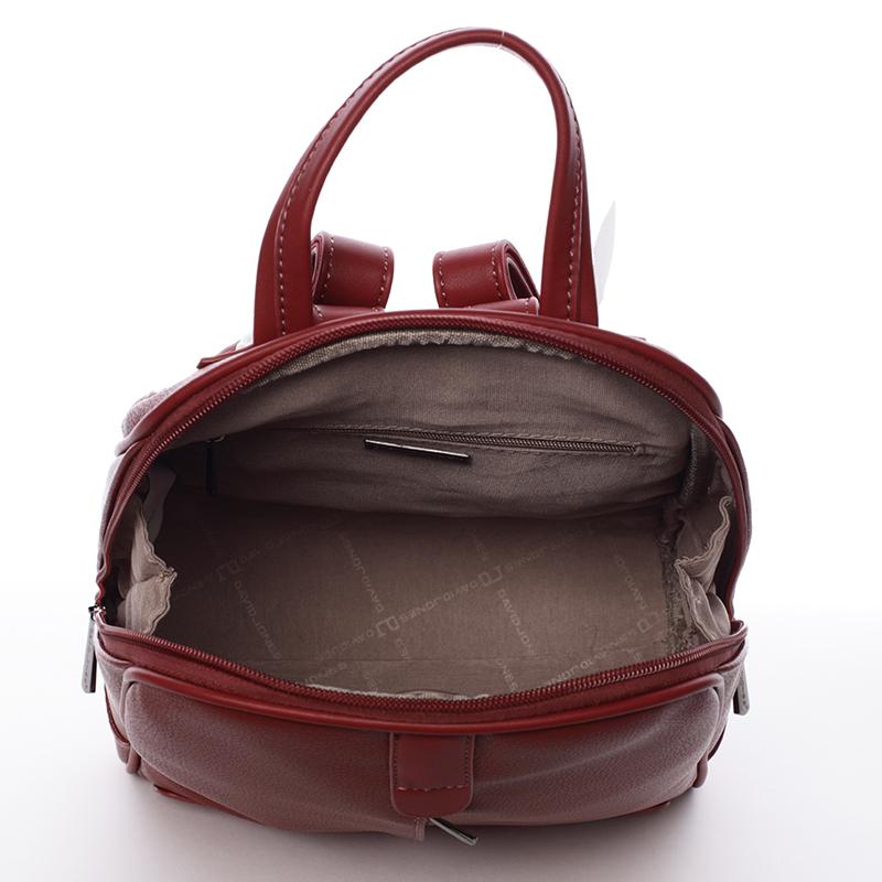 Trendy baťůžek Tiara, tmavě červený