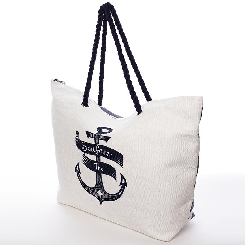 Módní plážová taška Samanta, modrá