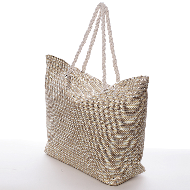 Stylová dámská plážová taška Selena, béžová