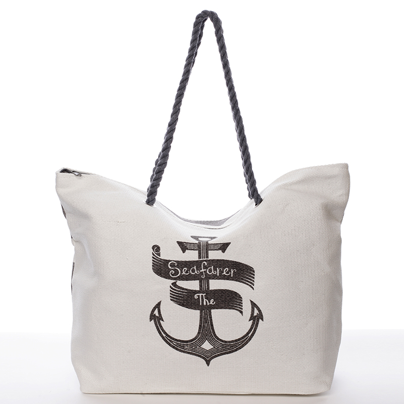 Módní plážová taška Samanta, šedá