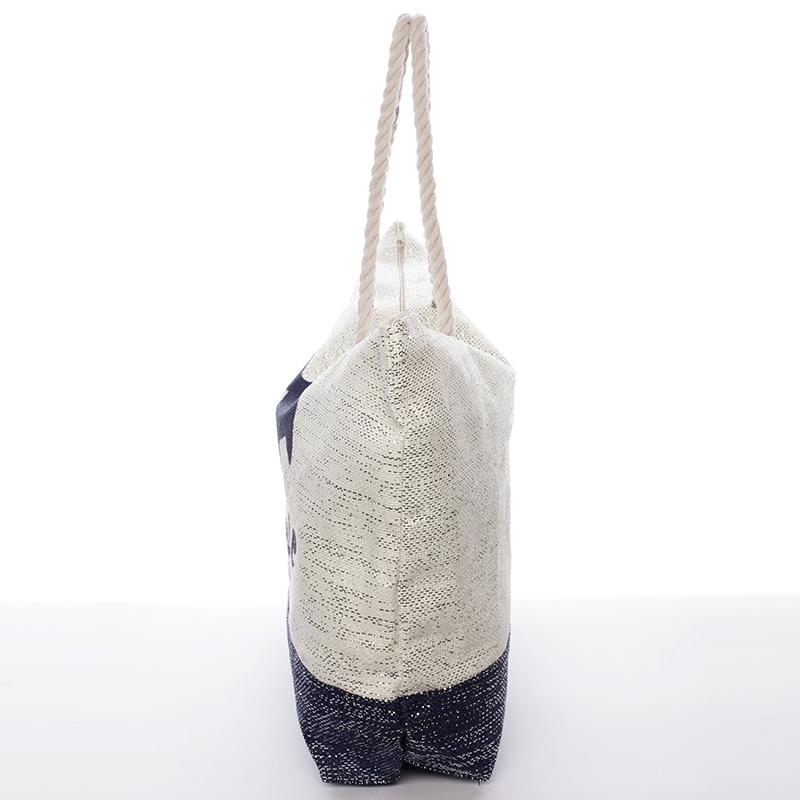 Stylová letní plážová taška Nancy, modrá