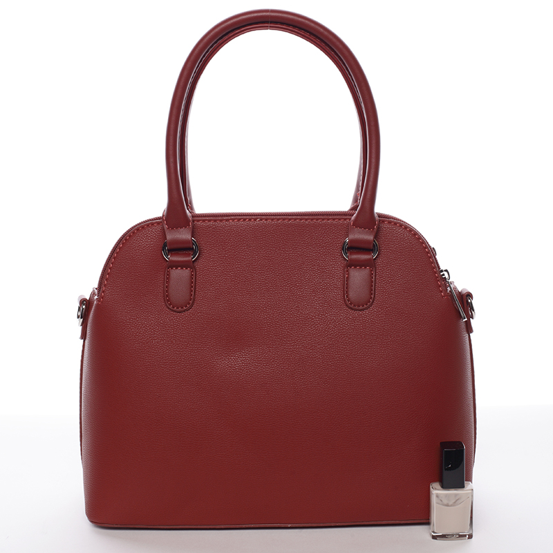 Trendová kabelka do ruky Elaina, tmavě červená