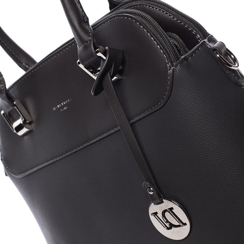 Trendová kabelka do ruky Elaina, tmavě šedá
